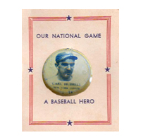 Carl Hubbell Our National Game Pin
