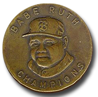 Babe Ruth CHAMPIONS Extreamly Rare Bronze Embossed