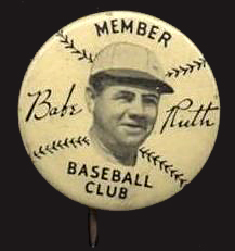 Babe Ruth Members Club Quaker Oats Pin